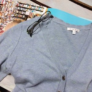 CAbi Cardigan Long Sleeve Button Front V-neck